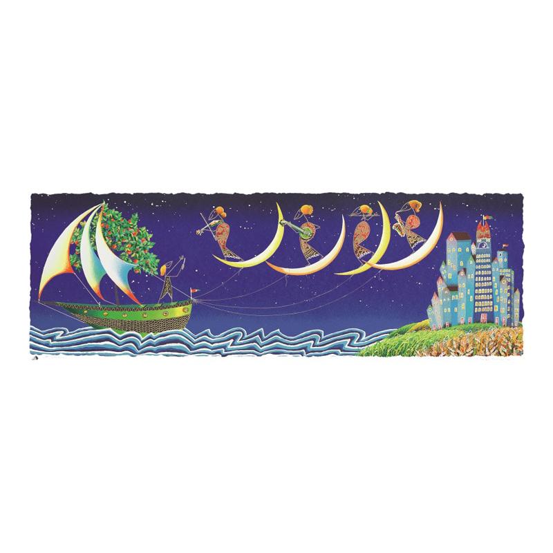 Meloniski - Serigrafia polimaterica ritoccata a mano dall'artista – 60×140 cm
