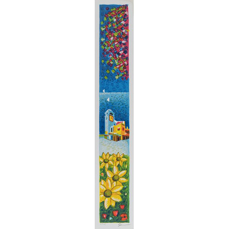 Mimmo Sciarrano – Capri: Piazzetta – Serigrafia 8×50