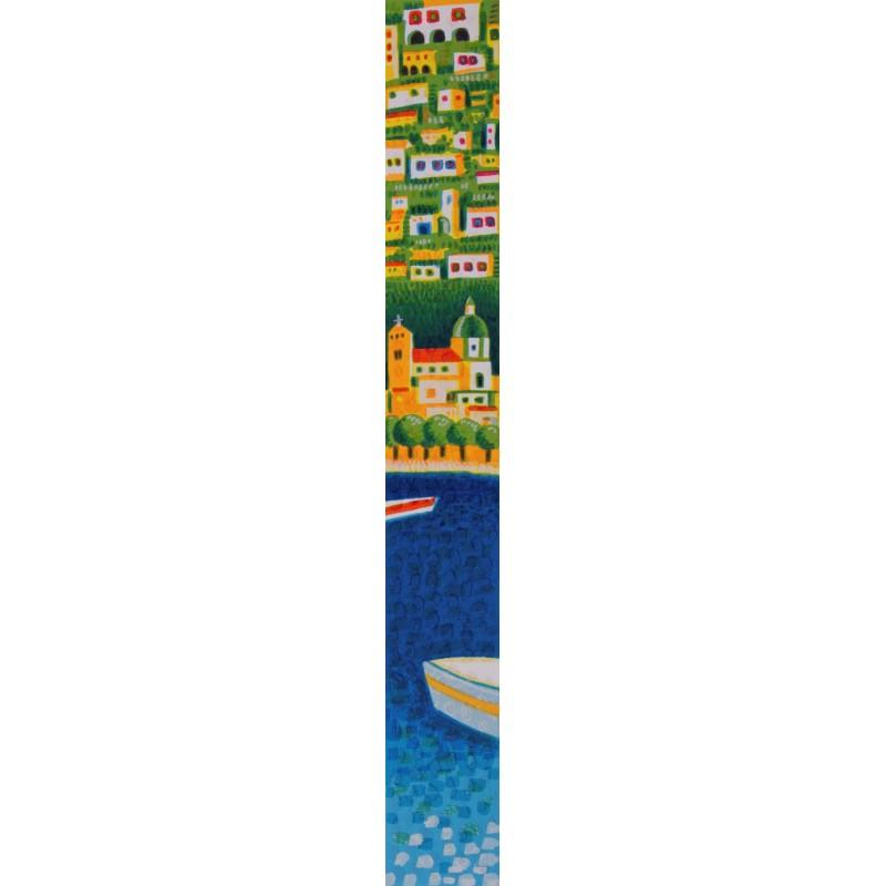 Mimmo Sciarrano - Marina di Positano - Serigrafia 8x50