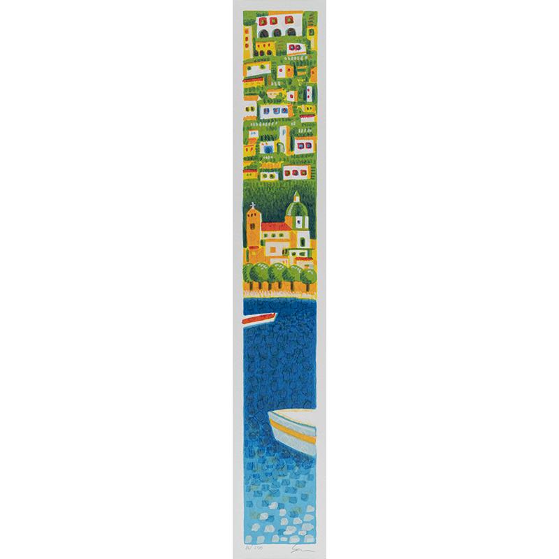 Mimmo-Sciarrano-Marina-di-Positano-Serigrafia-8x50