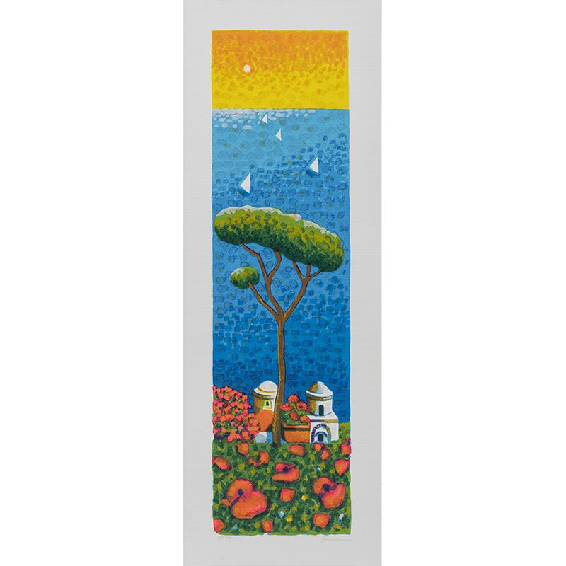 Mimmo Sciarrano - Ravello - Serigrafia 25x70