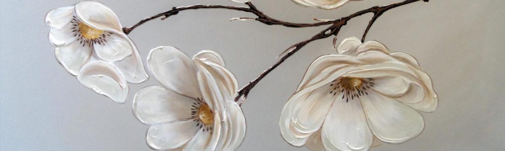 fiori su ramo tortora platino
