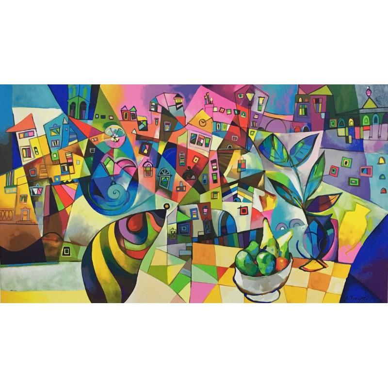 Miljenko Bengez - Allegoria A Matera - Serigrafia 80x140