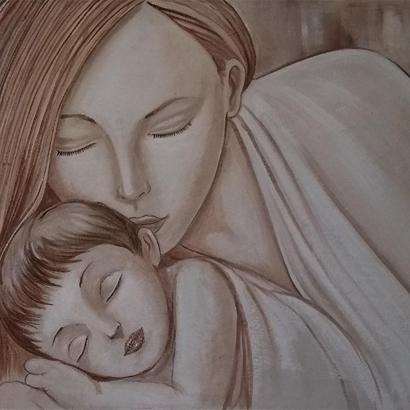 Maternità Intonaco 120×60 20-17