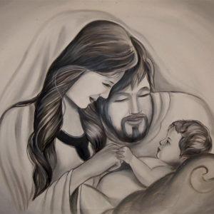 Sacra Famiglia 120x60