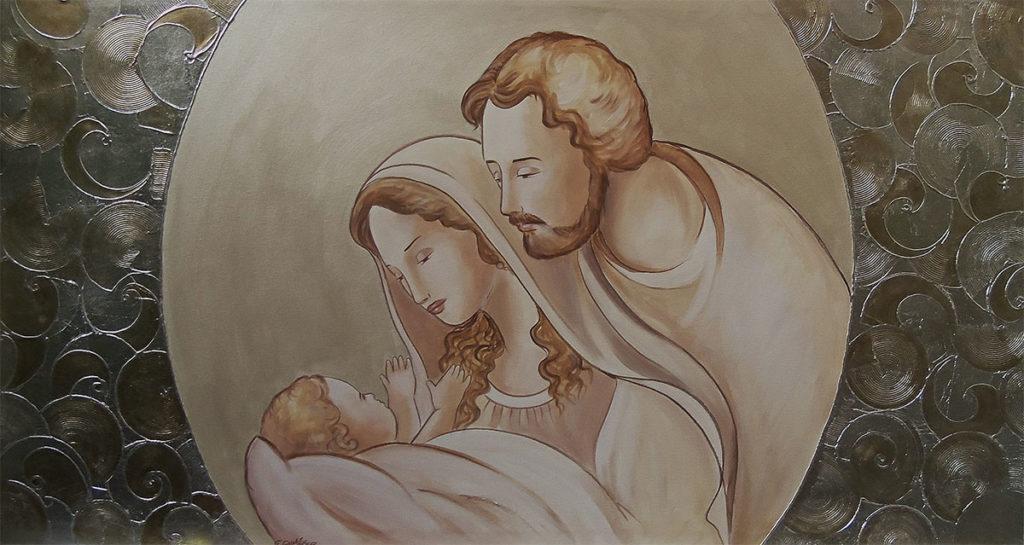 Sacra famiglia della serenità 120x60