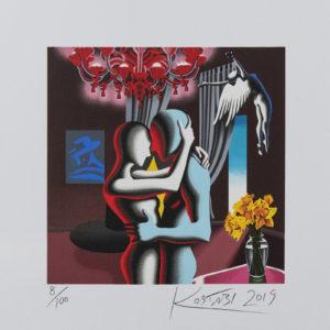 Kostabi - Embracing The Future - 35x35