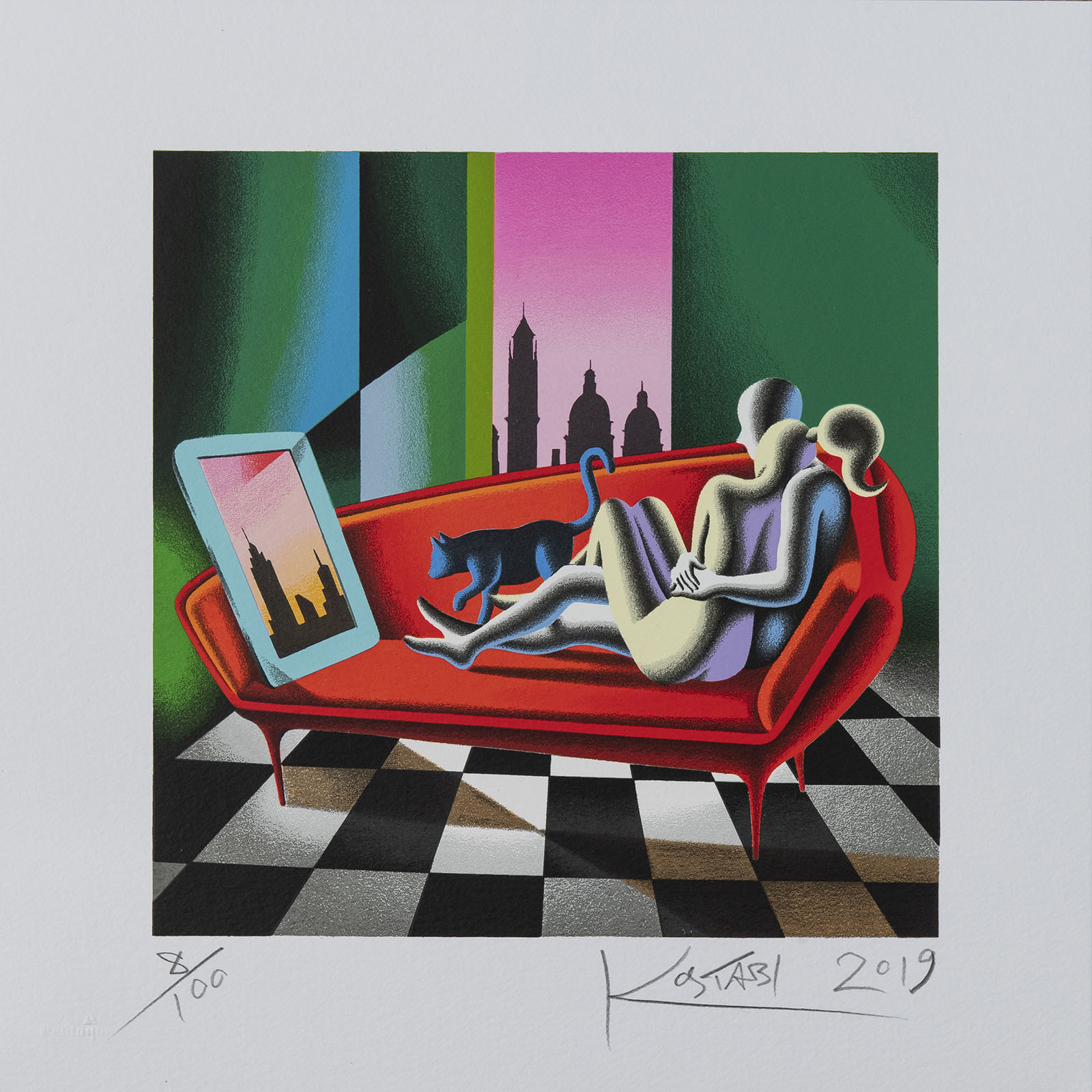 Mark Kostabi – Parallel Identity – 35×35