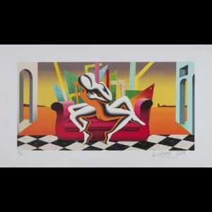 Mark Kostabi – The Architecture Of Desire – Srigrafia Polimaterica – 70x120cm