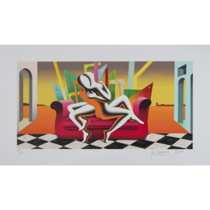 Mark Kostabi – The Architecture Of Desire – Srigrafia Polimaterica – 70x120cm
