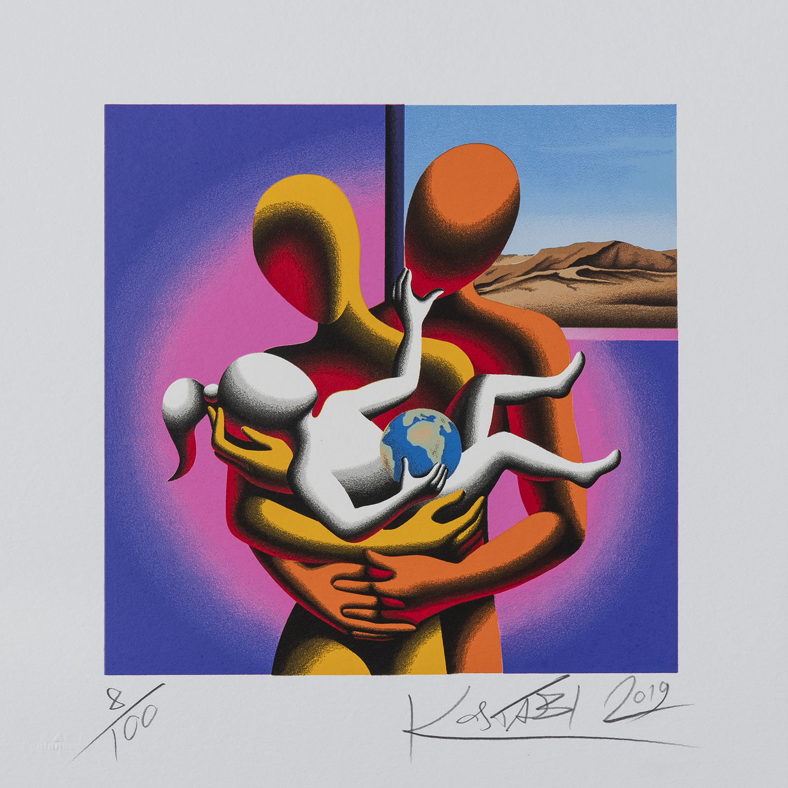 Mark Kostabi – The Only Hope – 35×35