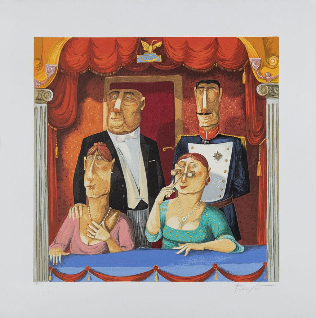 Pino Procopio - Gran teatro La Fenice - 65x65