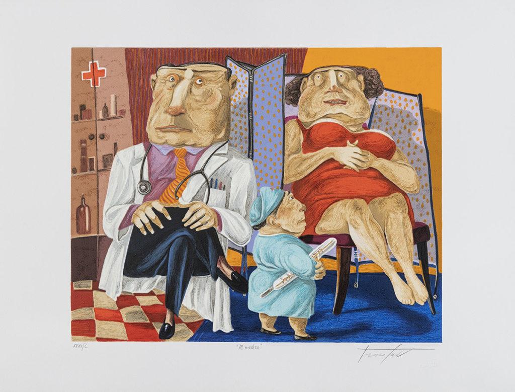 Pino Procopio - Il medico - 70x54