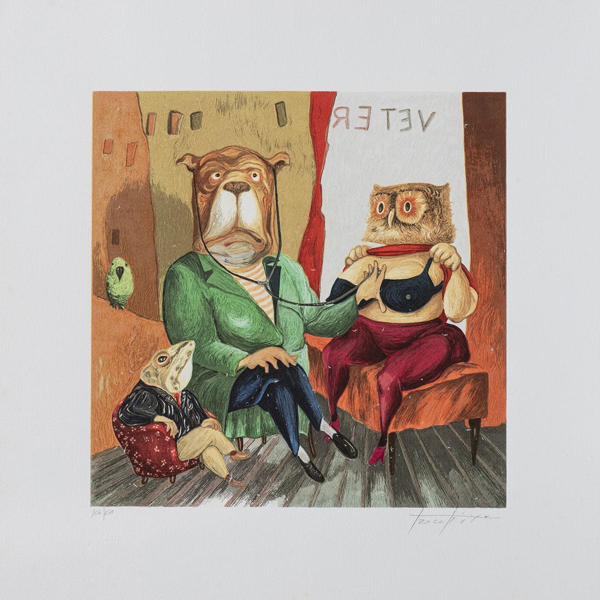 Pino Procopio - Il Veterinaio - 50x50