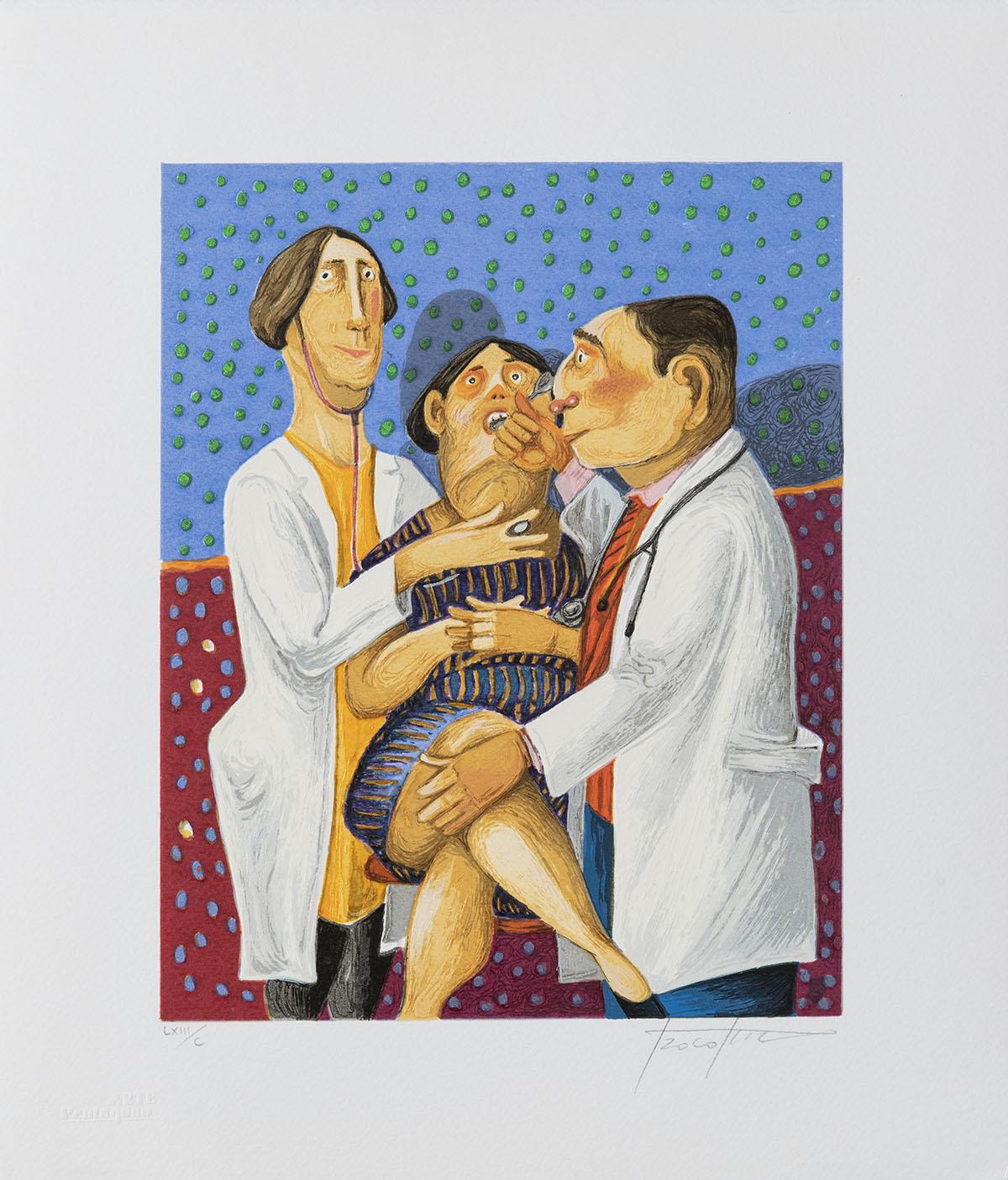 Pino Procopio – La Visita – 35×30