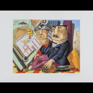 Pino Procopio - L'archietetto - 70x54