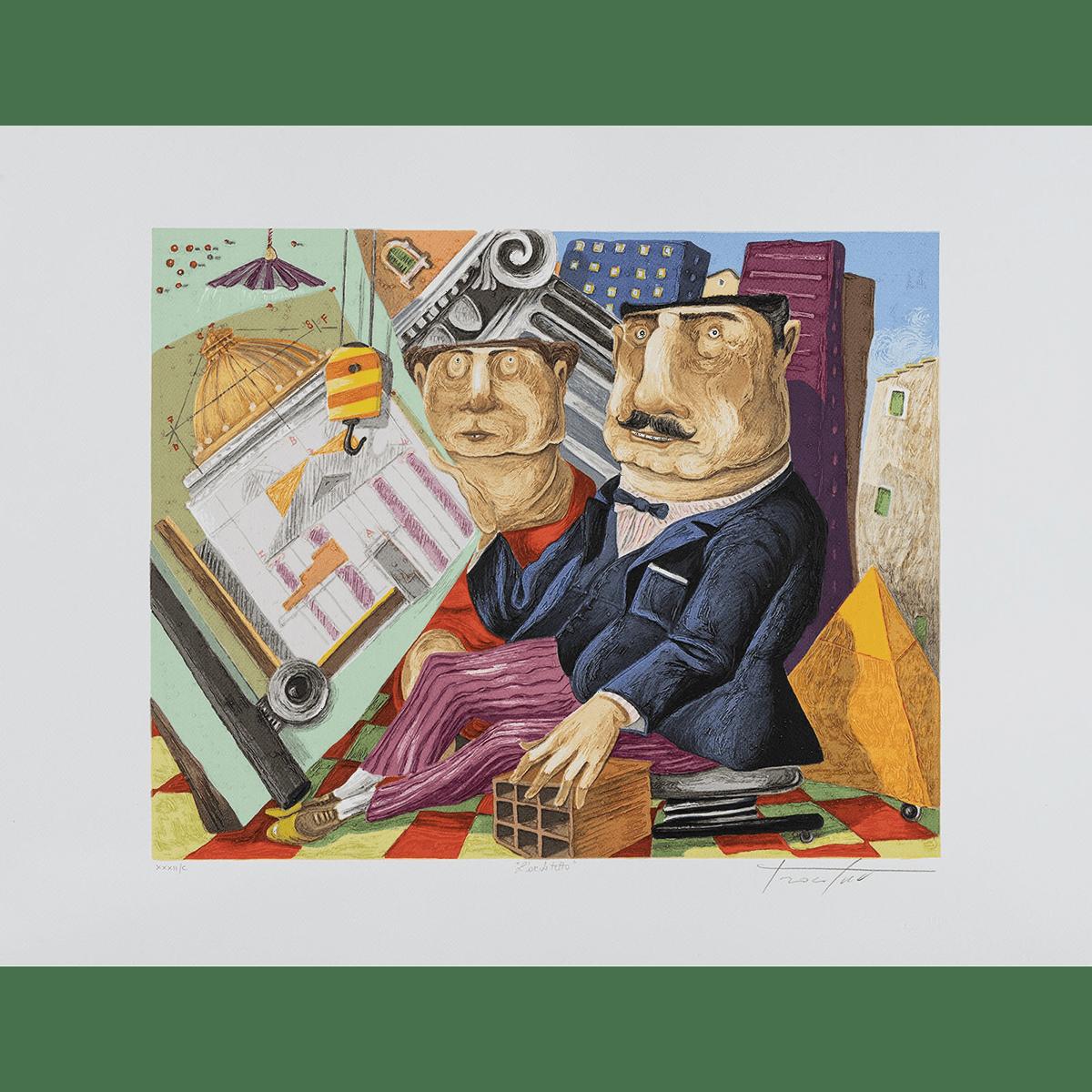 Pino Procopio – L'archietetto – 70×54
