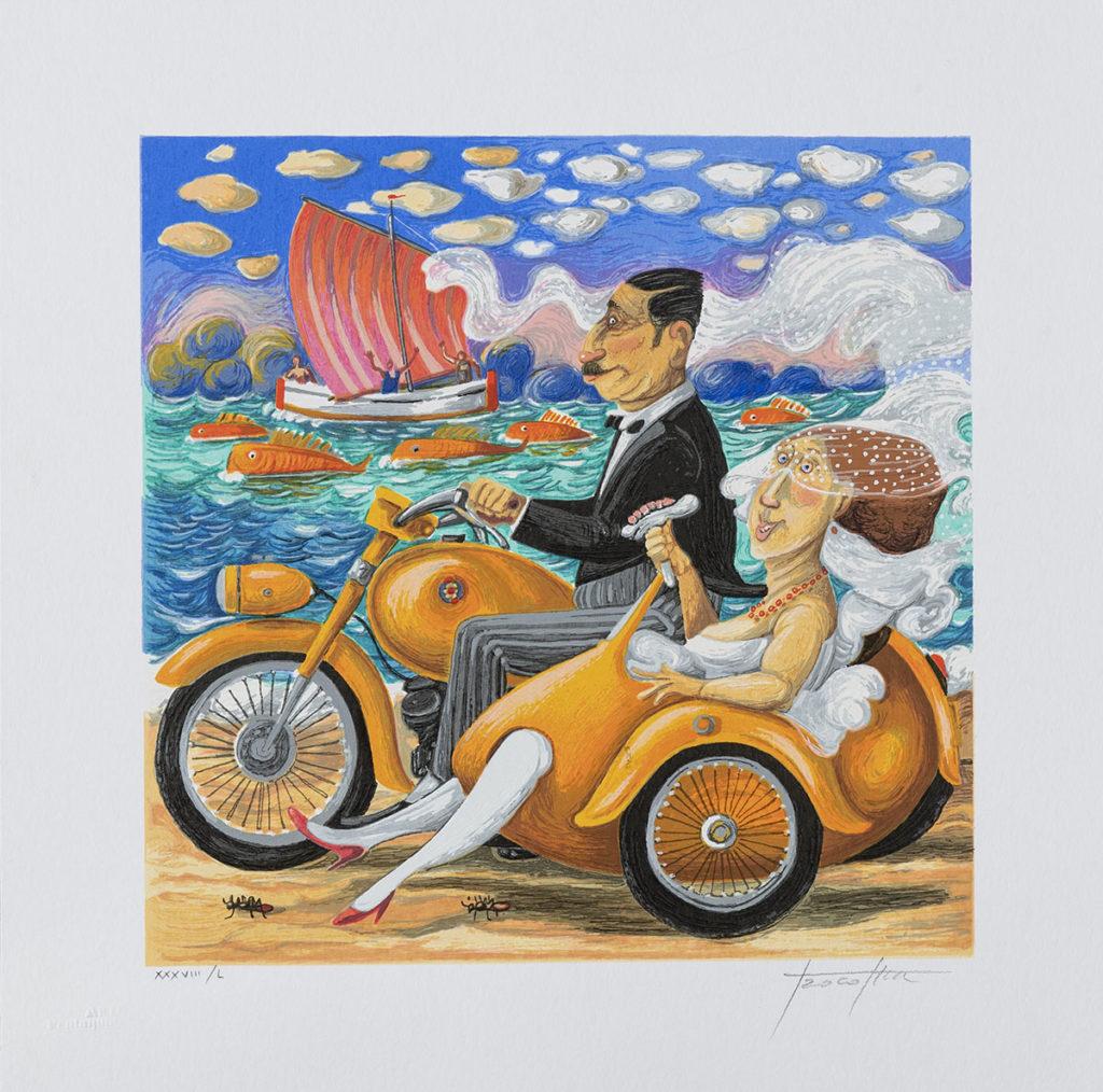 Pino Procopio - Vela d'amore - 40x40