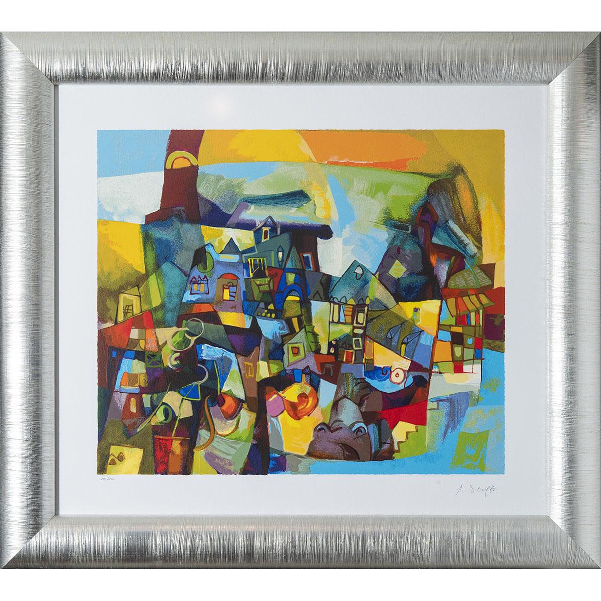 Miljenko Bengez - All'ombra - Serigrafia 96x86cm