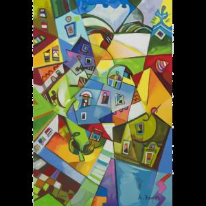 Miljenko Bengez – Luce Del Nord – Serigrafia 60x40cm
