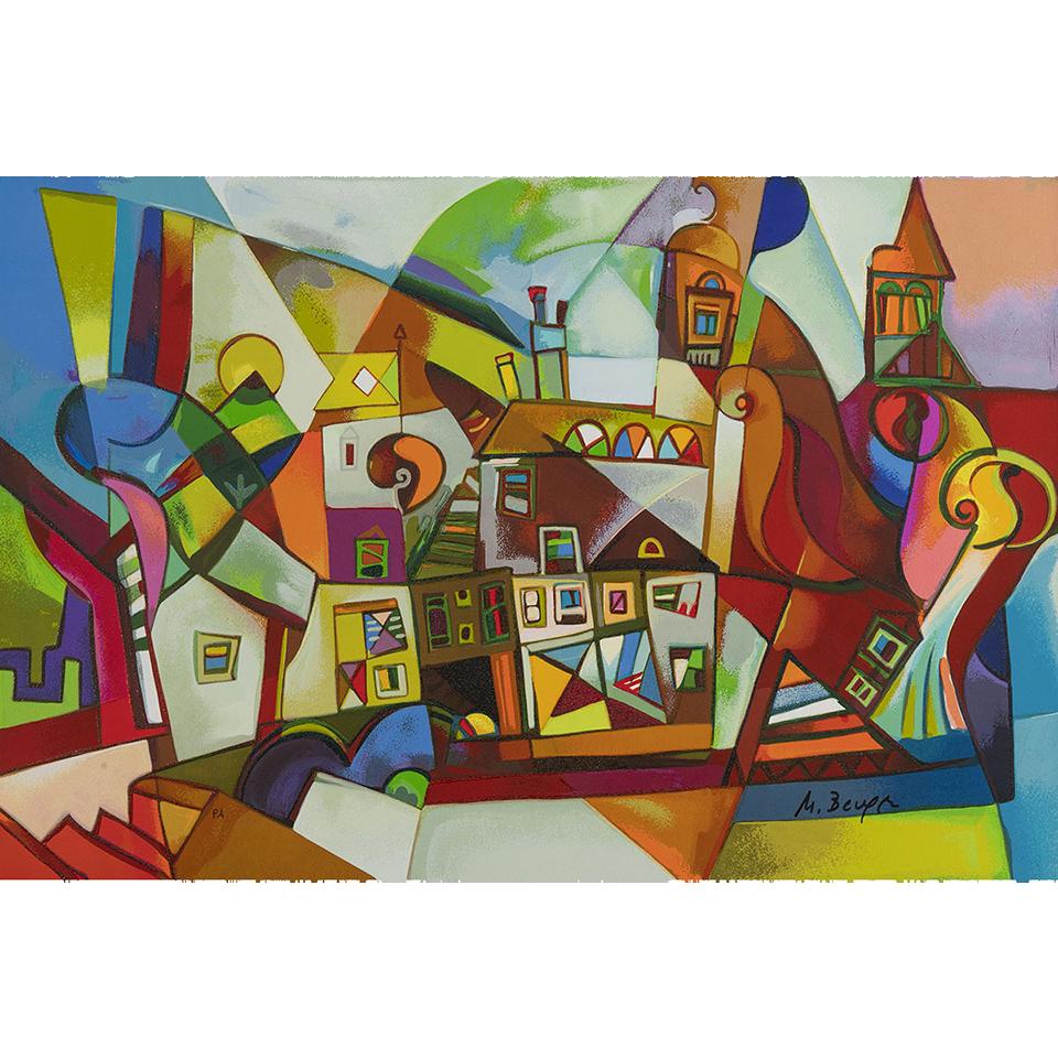 Miljenko Bengez – Mistery point – Serigrafia 60x40cm