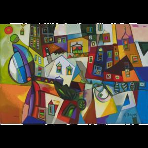 Miljenko Bengez – Motivo Invernale – Serigrafia 60x40cm