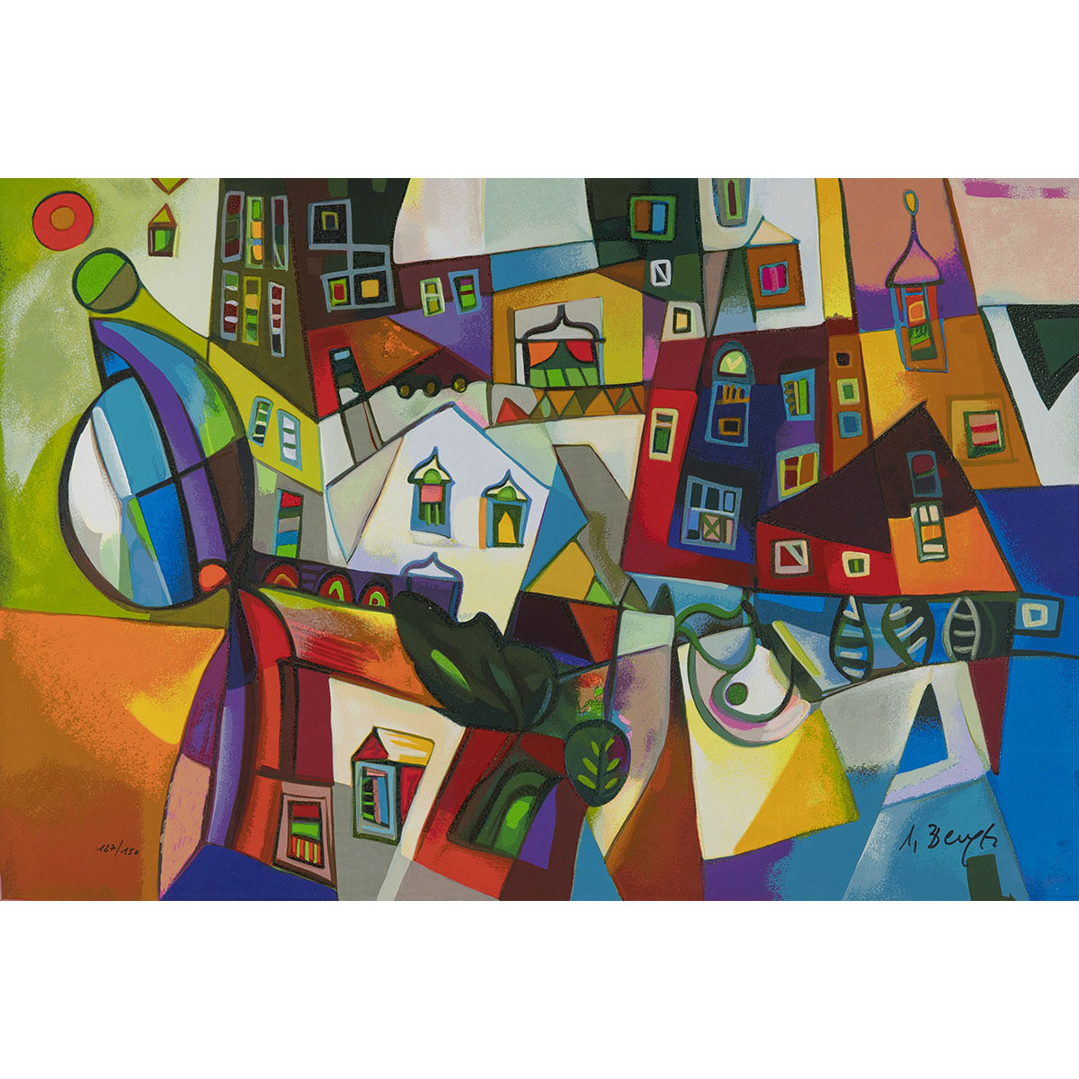 Miljenko Bengez – Motivo Invernale – Serigrafia 60×40