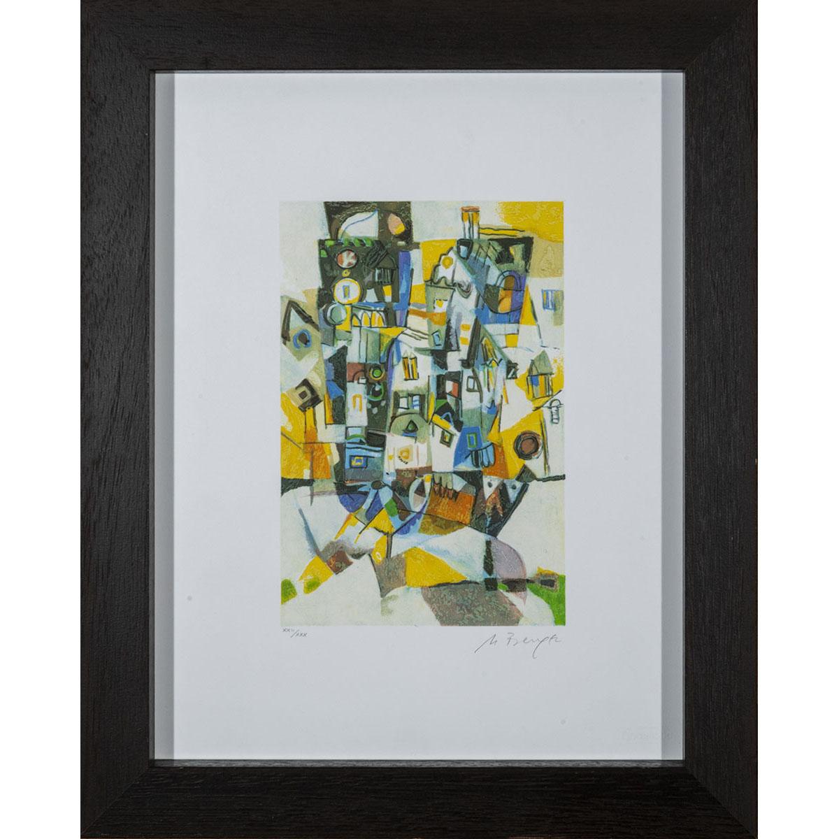 Miljenko Bengez - Senza titolo - Serigrafia 52x42cm