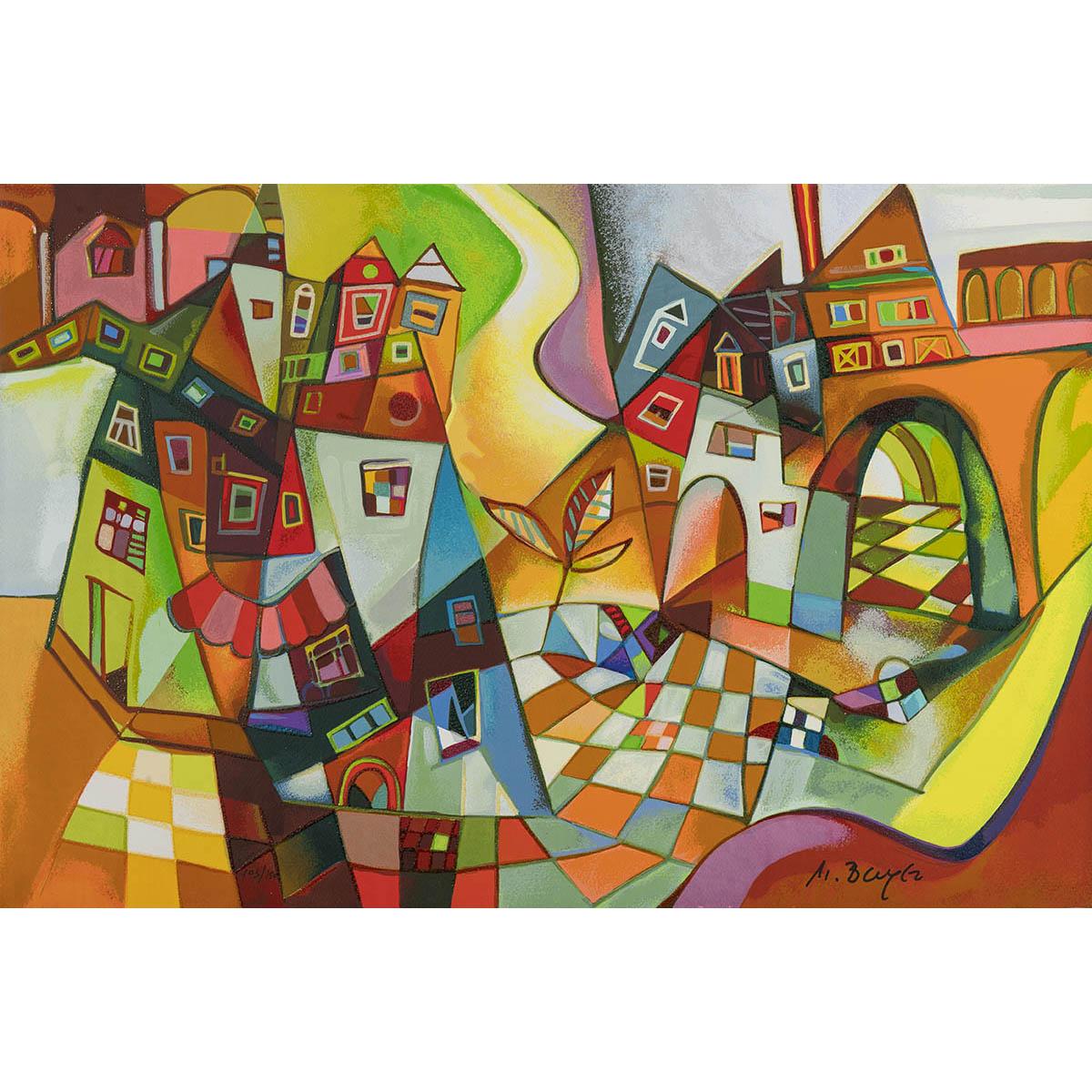 Miljenko Bengez – Viadotto – Serigrafia 60×40