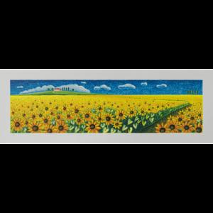 Mimmo-Sciarrano-Campo-di-girasoli-Serigrafia-polimaterica-35x100cm