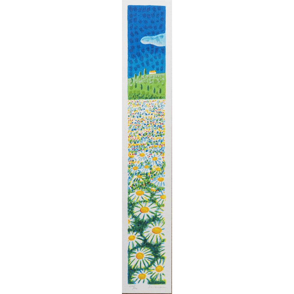 Mimmo Sciarrano - Campo fiorito - Serigrafia polimaterica 8x50cm