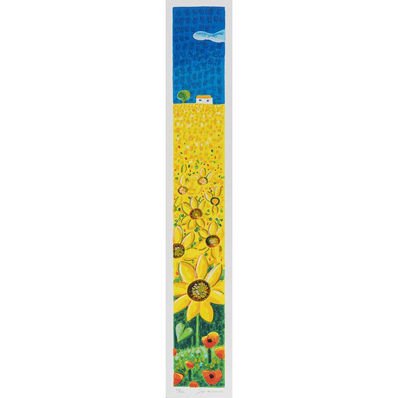 Mimmo Sciarrano - Girasoli - Serigrafia polimaterica 8x50