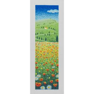 Mimmo Sciarrano - Paesaggio Toscano - Serigrafia Polimaterica 25x70cm