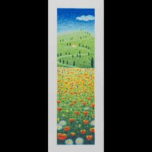 Mimmo Sciarrano - Paesaggio Toscano - Serigrafia Polimaterica 25x70