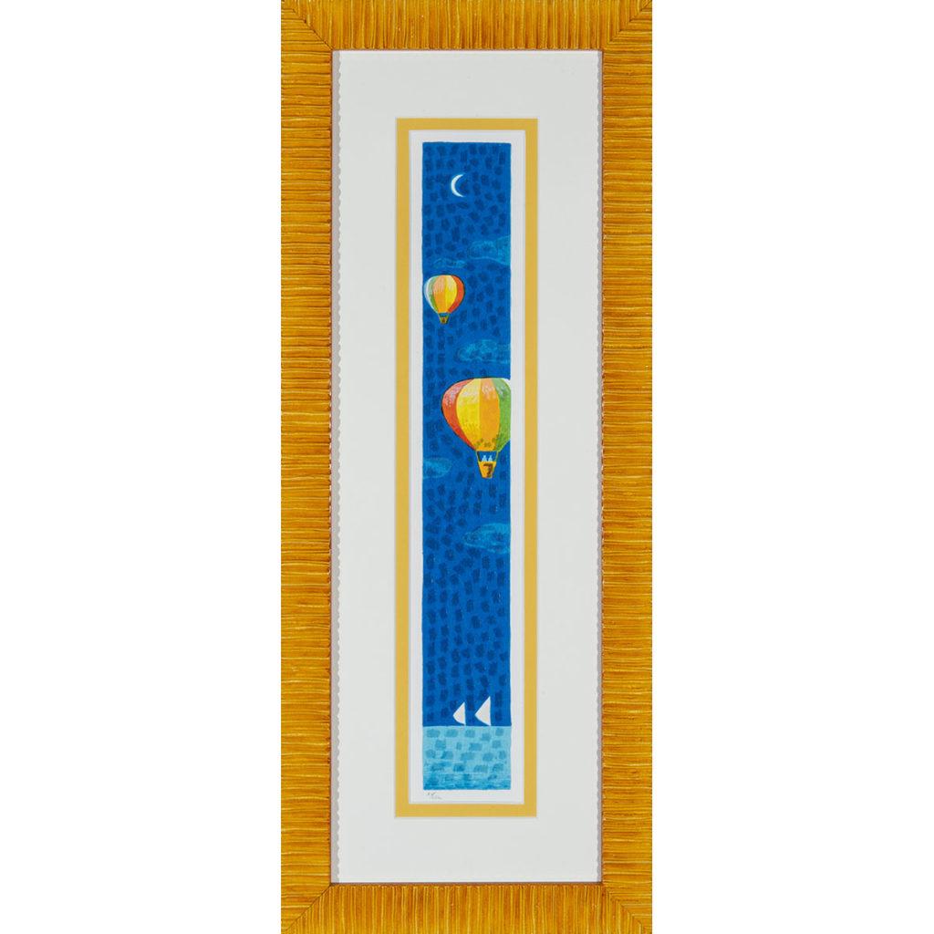 Mimmo Sciarrano - Volando sul mare - Serigrafia polimaterica 27x68cm