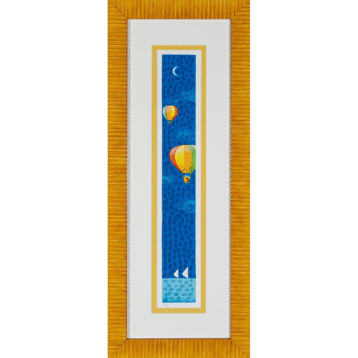 Mimmo Sciarrano – Volando Sul Mare – Serigrafia Polimaterica 27×68