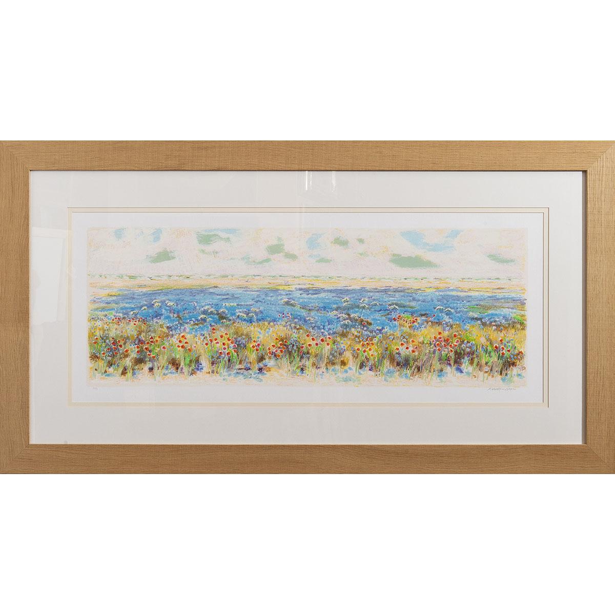 Natale-Addamiano-Campo-di-lino-Serigrafia-83x153cm