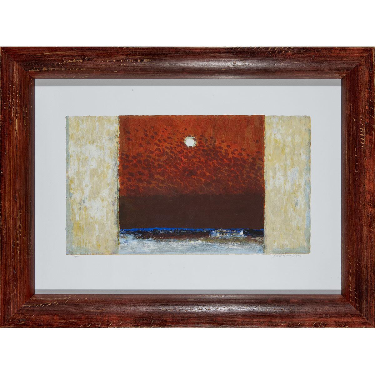 Natale Addamiano - Cielo D'estate - Serigrafia 81x61cm