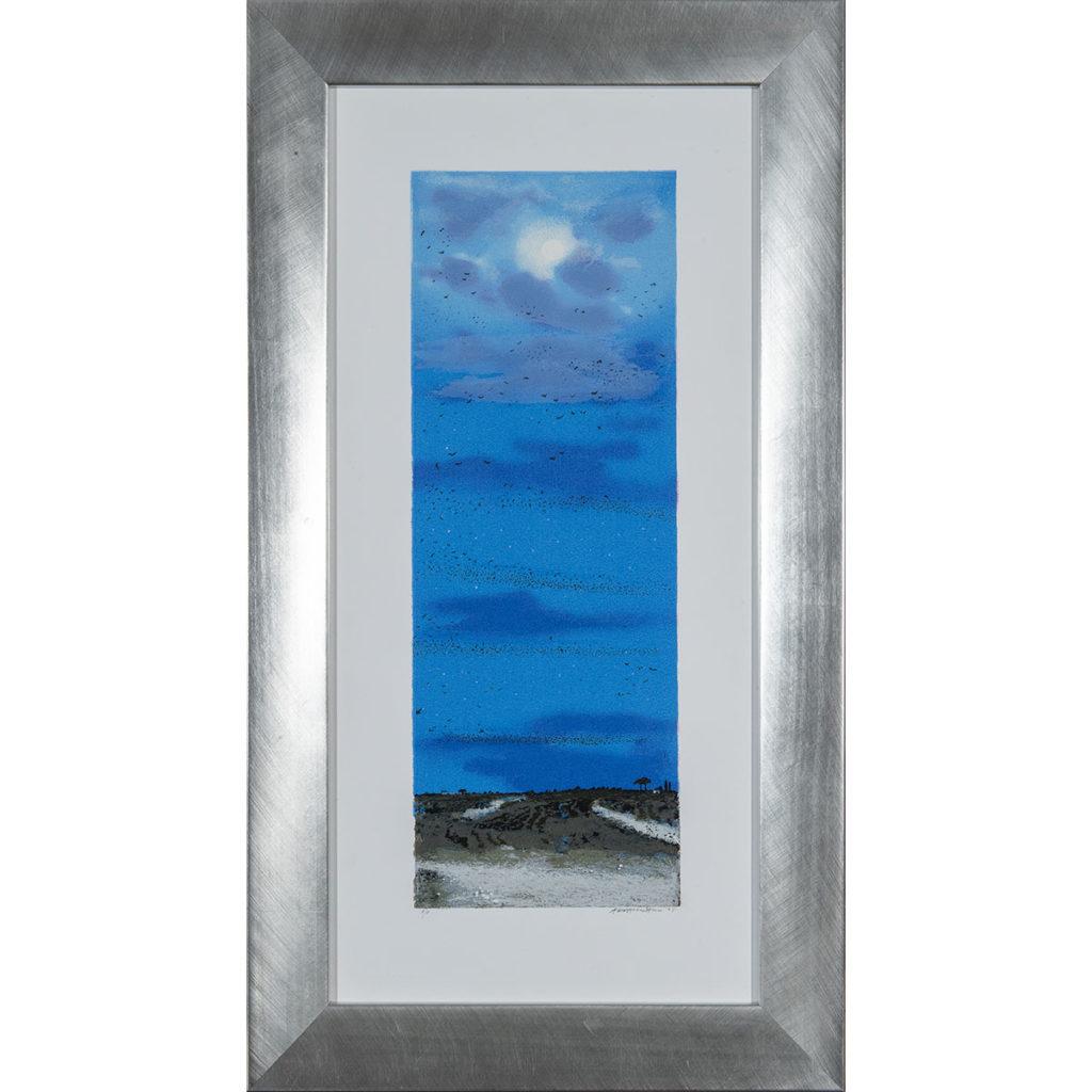 Natale Addamiano - Storno serale - Serigrafia 44x80cm