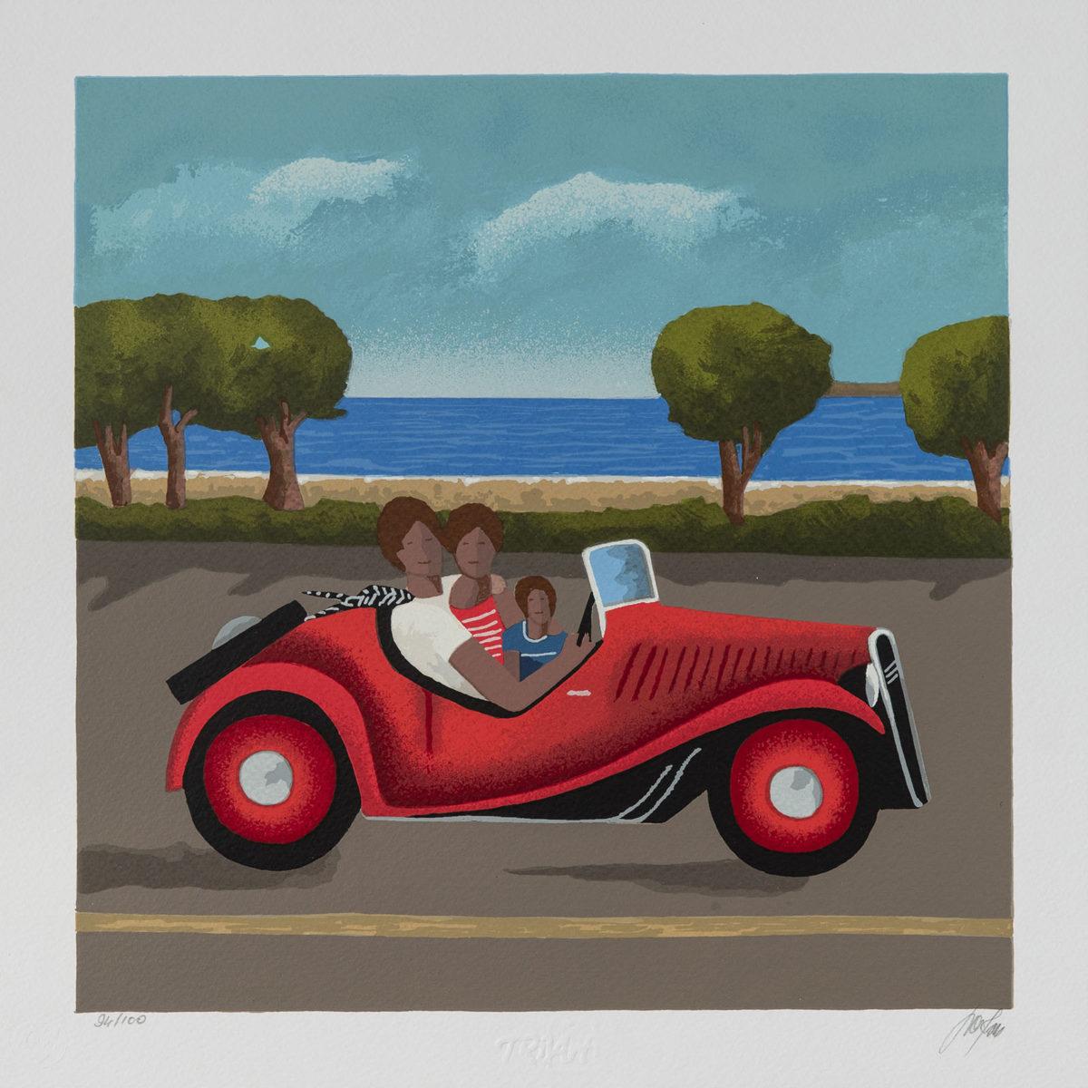 Renato Sciolan – Con Papà E Mamma – Serigrafia 33×33