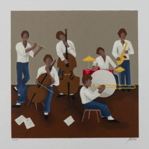 Renato Sciolan - Jazz Band - Serigrafia 33x33cm