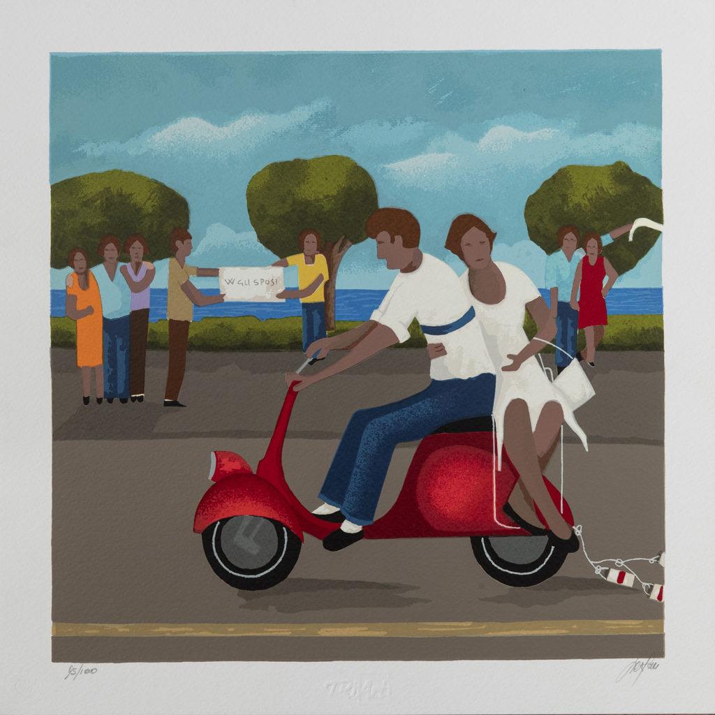 Renato Sciolan - Oggi sposi - Serigrafia 33x33cm