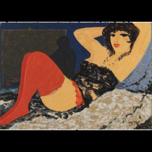 Salvatore Fiume – La Modella Del Pittore – Serigrafia Polimaterica D'apres 35x50cm