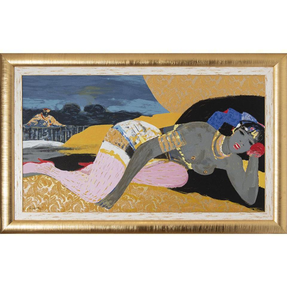 Salvatore Fiume – L'alcova Del Sultano – Serigrafia Polimaterica D'apres 111×176