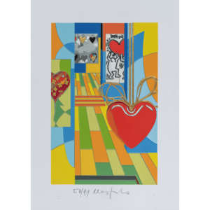 Ugo Nespolo - Funny Hearts - Serigrafia 35x25