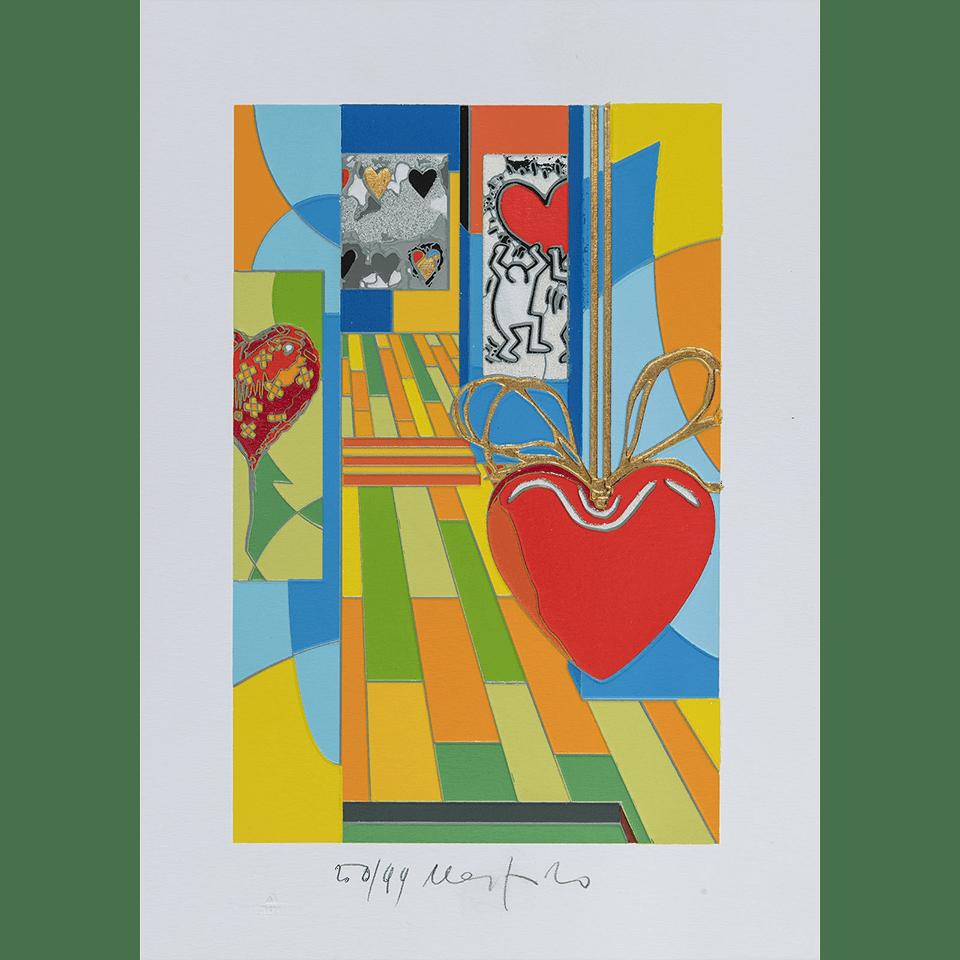 Ugo Nespolo – Funny Hearts – Serigrafia 35×25