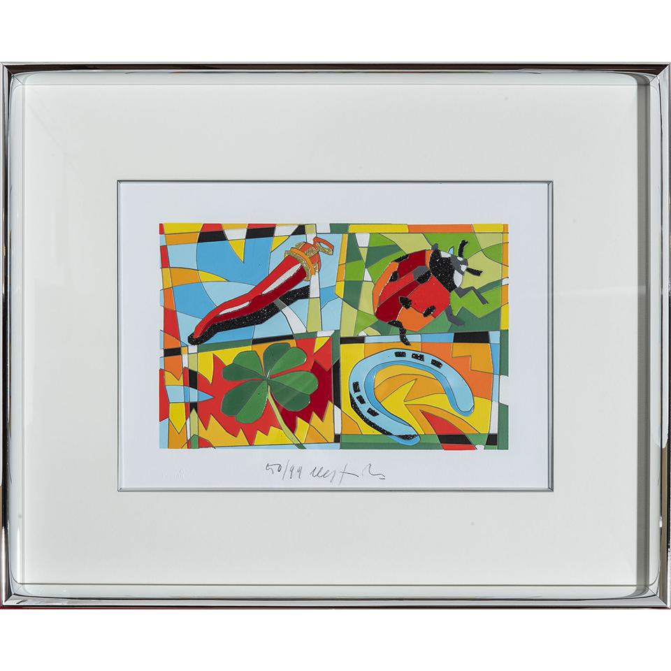Ugo Nespolo – Lucky You – Serigrafia 41×51