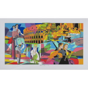 Ugo Nespolo - Movie Time - Serigrafia 70x120
