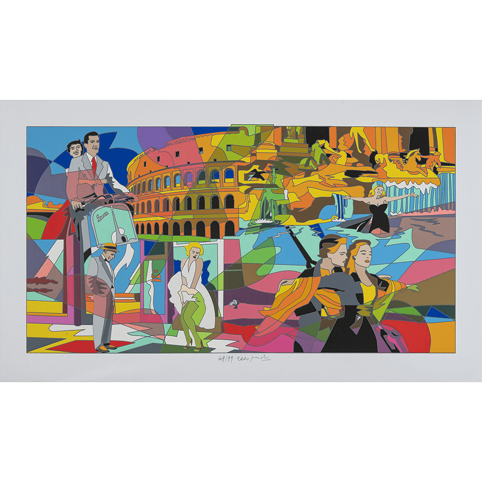 Ugo Nespolo – Movie Time – Serigrafia 70×120