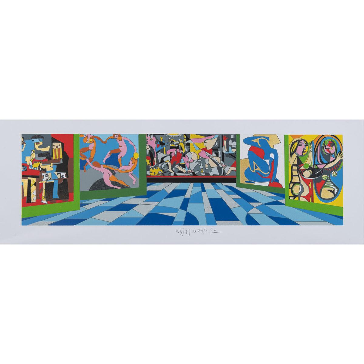 Ugo Nespolo - Museo - Serigrafia 35x100cm
